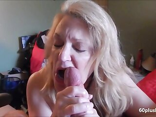 Very hot older lady multitude cum learn of almost her tongue