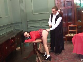 Slutty mature drops on her knees to be fucked from behind. HD